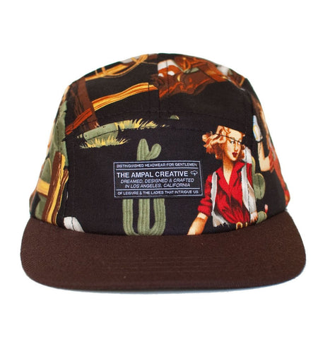 The Ampal Creative - Reverse II 5 Panel, Blk - Accessories: Headwear - Iron and Resin