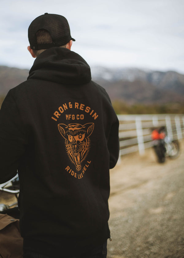 Iron & Resin Ride Like Hell Hoodie