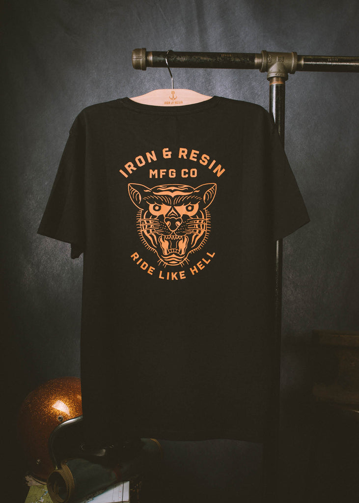 Iron & Resin Ride Like Hell Tee Back Graphic in Black
