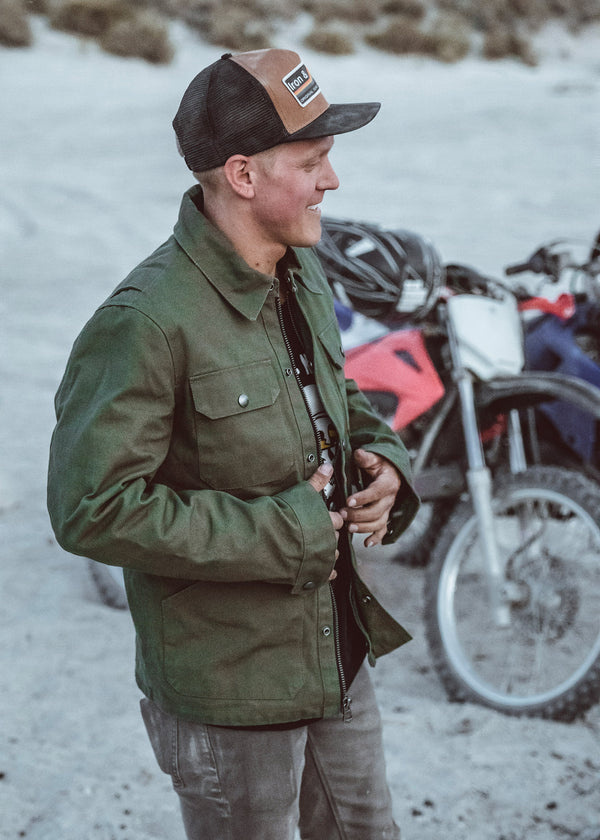 Iron & Resin Rider Jacket in Army