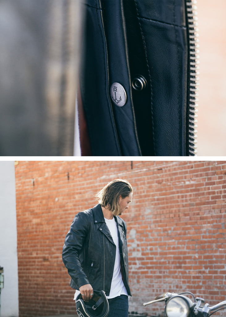 Iron & Resin Ringo Jacket - Internal Pocket Storage Leather Jacket