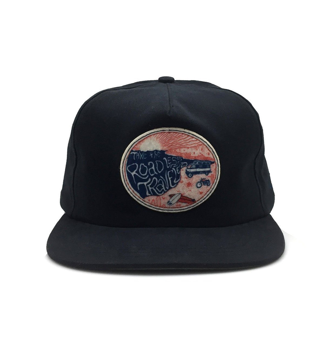 The Ampal Creative Road Less Traveled II Strapback - Black - Headwear - Iron and Resin