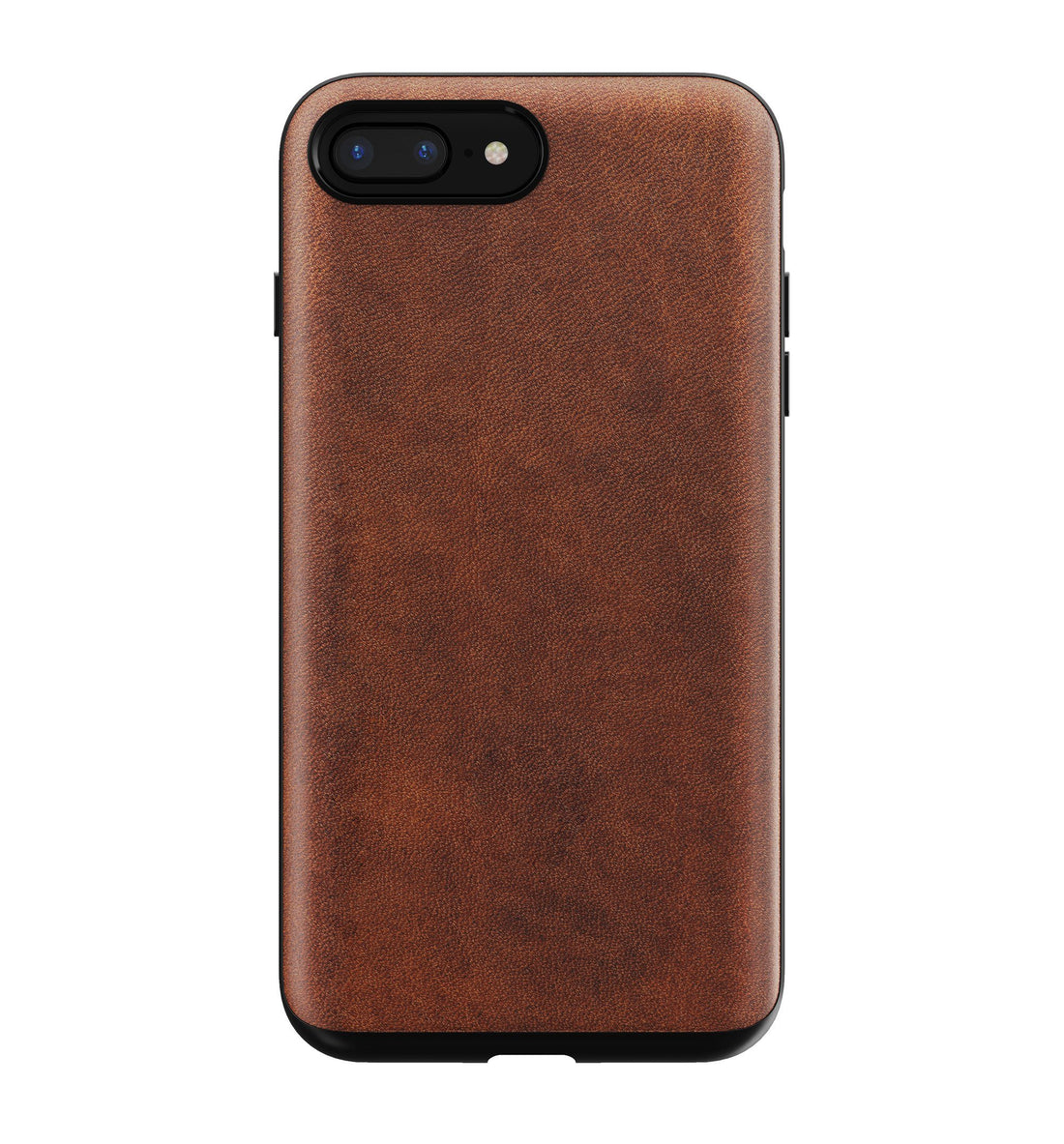 Nomad Rugged Leather Case - Rustic Brown - iPhone 8/7 Plus - Carry Essentials - Iron and Resin