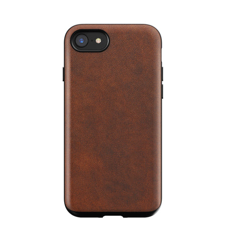 Nomad Rugged Leather Case - Rustic Brown - iPhone 8/7 - Carry Essentials - Iron and Resin