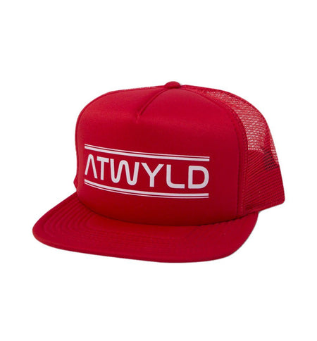 Atwyld Satellite Trucker Hat - Red - Headwear - Iron and Resin