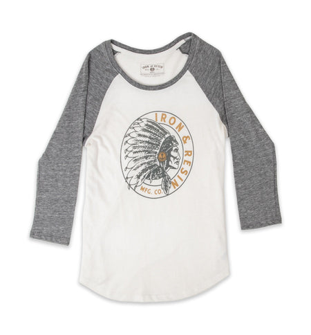 Women's Sawgawsto Baseball Tee - Tops - Iron and Resin