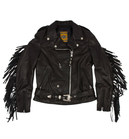 Schott Women's Fringe Leather Jacket - Outerwear - Iron and Resin
