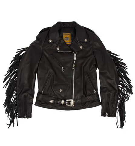 Schott Women's Fringe Leather Jacket
