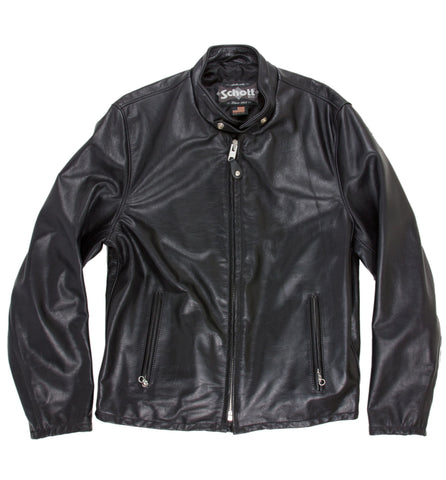 Schott Midweight Cowhide Fitted Cafe Racer