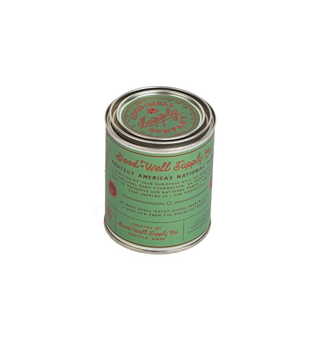 Good & Well Supply Company National Park Candle - Sequoia - 1/2 Pint - Home Essentials - Iron and Resin