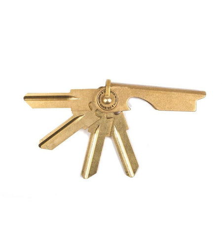 Good Worth & Co. Key Case Set of 4 - Brass - KW1 - Carry Essentials - Iron and Resin