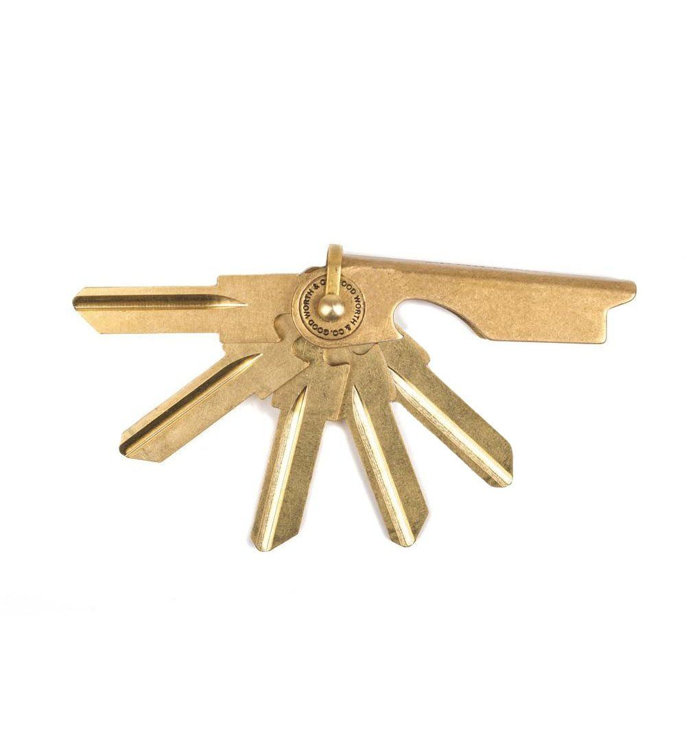 Good Worth & Co. Key Case Set of 5 - Brass - SC1 - Carry Essentials - Iron and Resin