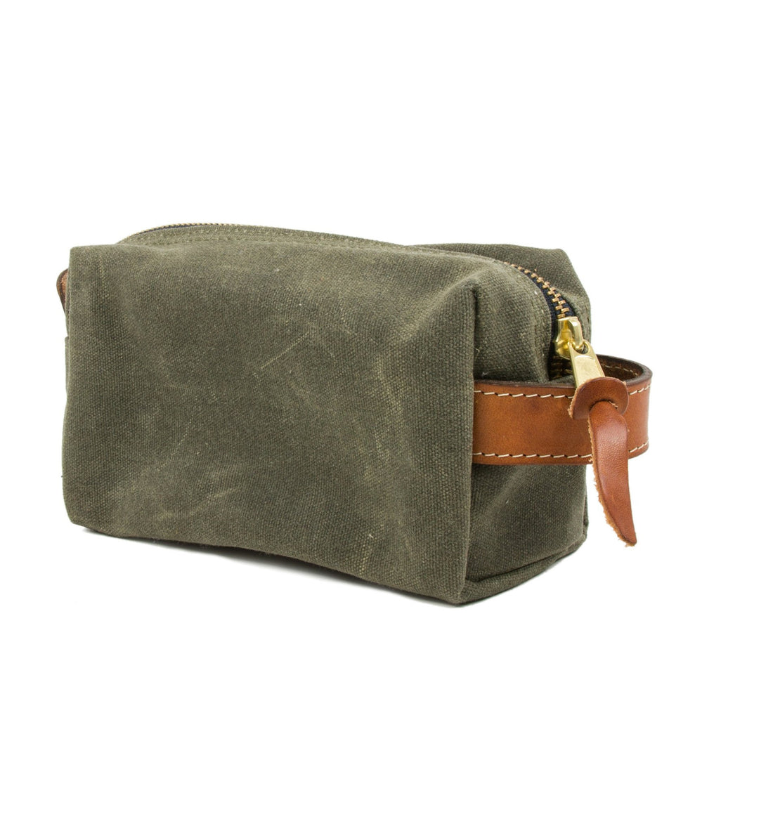 Owen & Fred Explore Waxed Canvas Shaving Kit Bag - Grooming: Dopp Kit - Iron and Resin