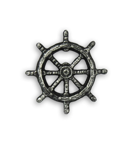 Antique Ship Wheel Bottle Opener - Kitchen/Bar - Iron and Resin