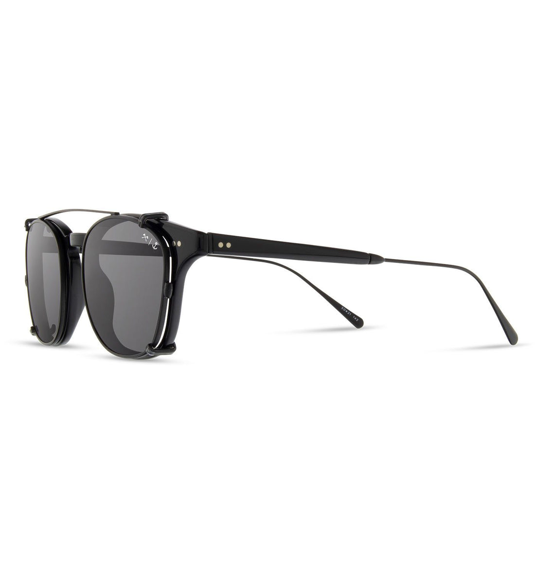 Shwood x Iron & Resin Kennedy City - Black Obsidian with Grey Polarized Lenses - Sunglasses - Iron and Resin