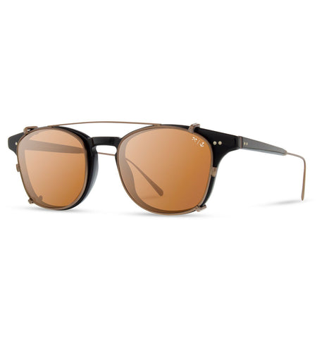 Shwood x Iron & Resin Kennedy City - Black Bronze w/ Brown Polarized Lenses - Sunglasses - Iron and Resin