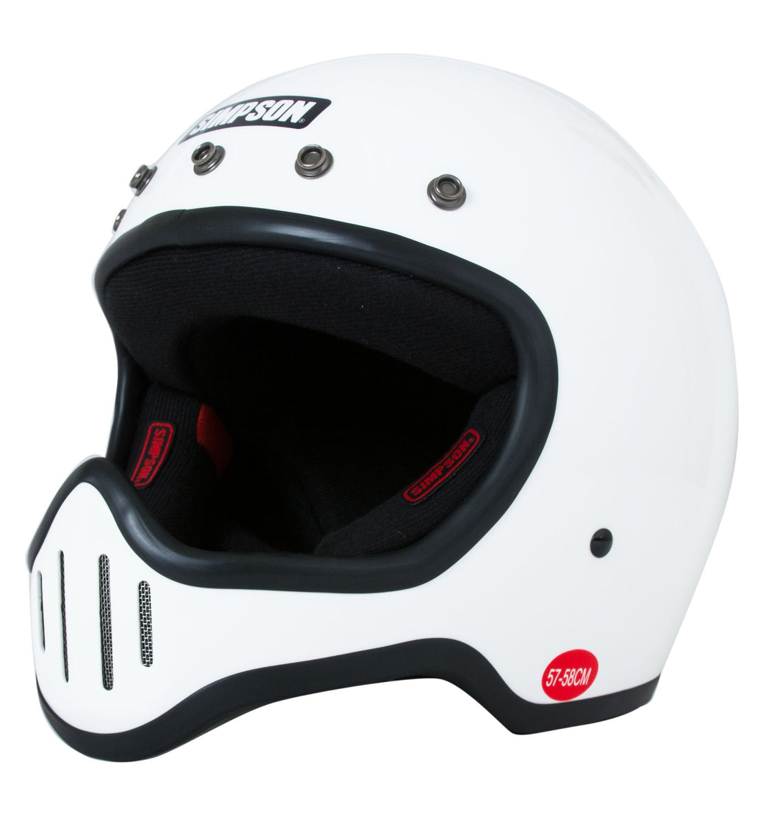 Simpson Helmets M50 - White, M - Display Model - Riding - Iron and Resin