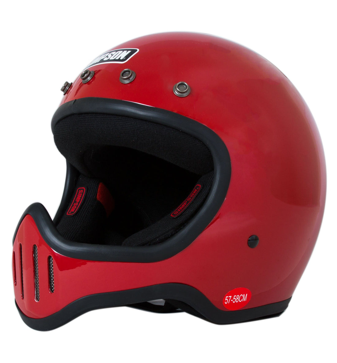 Simpson Helmets M50 - Red, M - Display Model - Riding - Iron and Resin