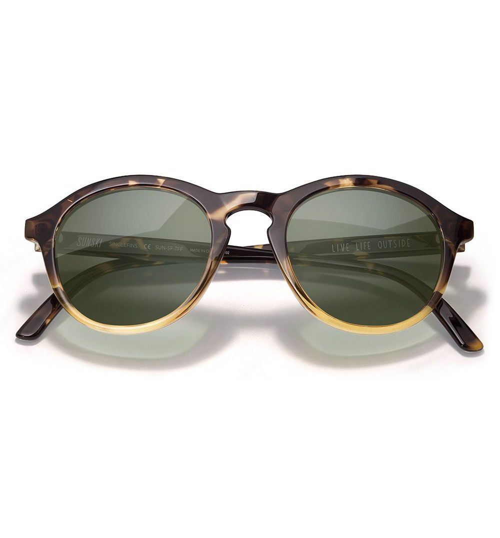 Sunski Singlefin - Tortoise Fade Forest - Sunglasses - Iron and Resin