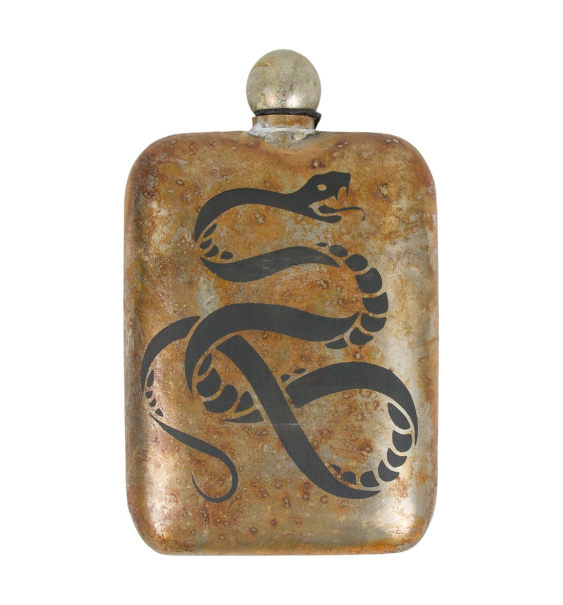 The Sneerwell, The Death Adder Noble Flask - Houseware: Flasks - Iron and Resin