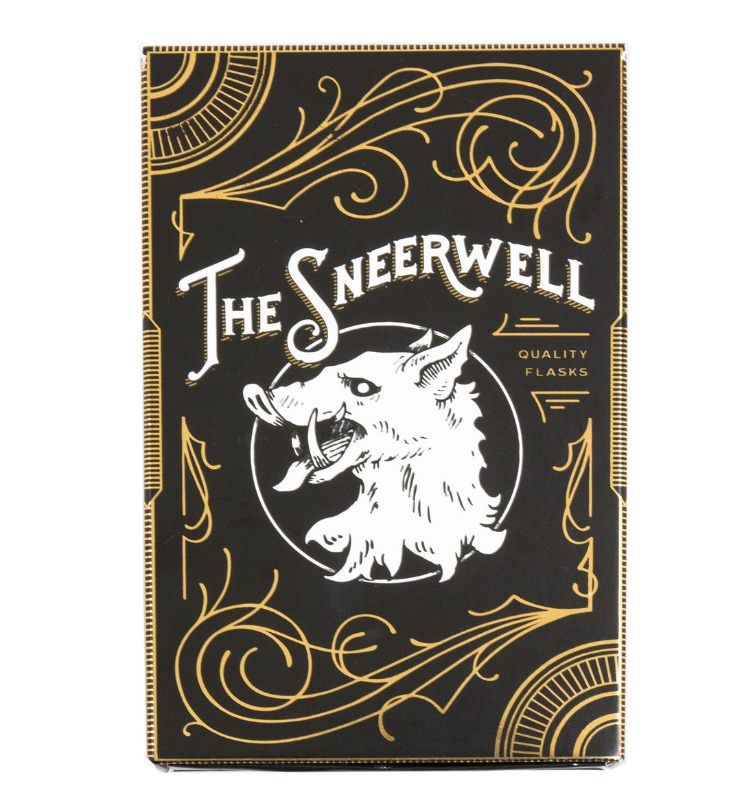 The Sneerwell, The Death Adder Noble Flask - Kitchen/Bar - Iron and Resin