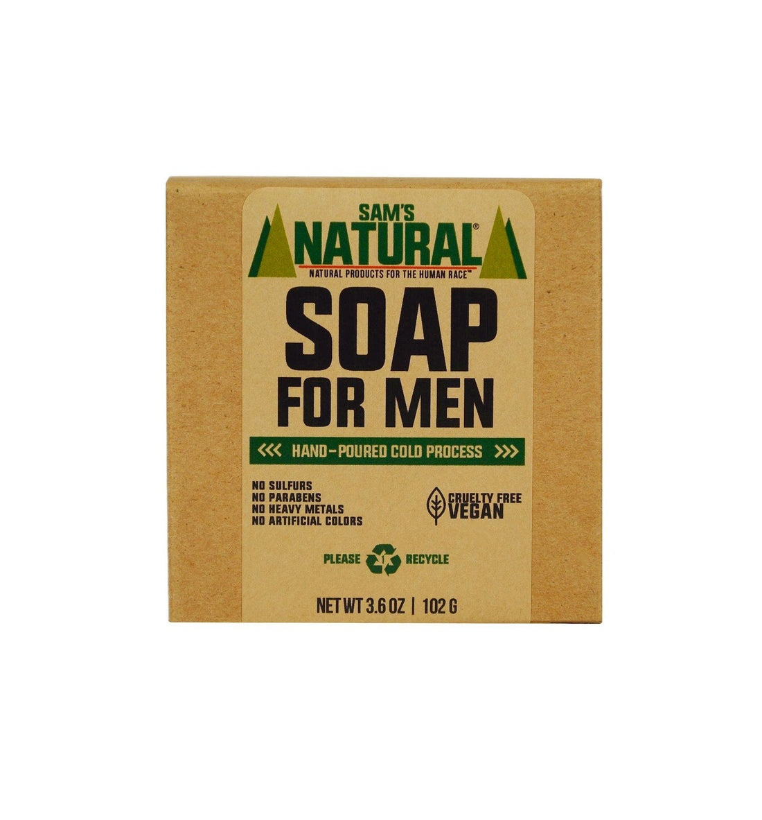 Sam's Natural Soap for Men - Grooming - Iron and Resin