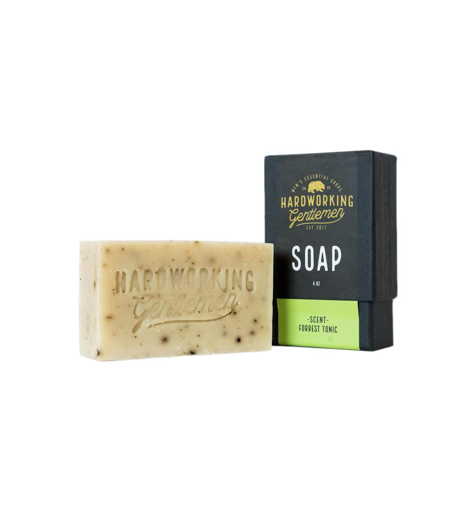 Hardworking Gentlemen Forest Tonic Soap, 4 oz - Grooming - Iron and Resin