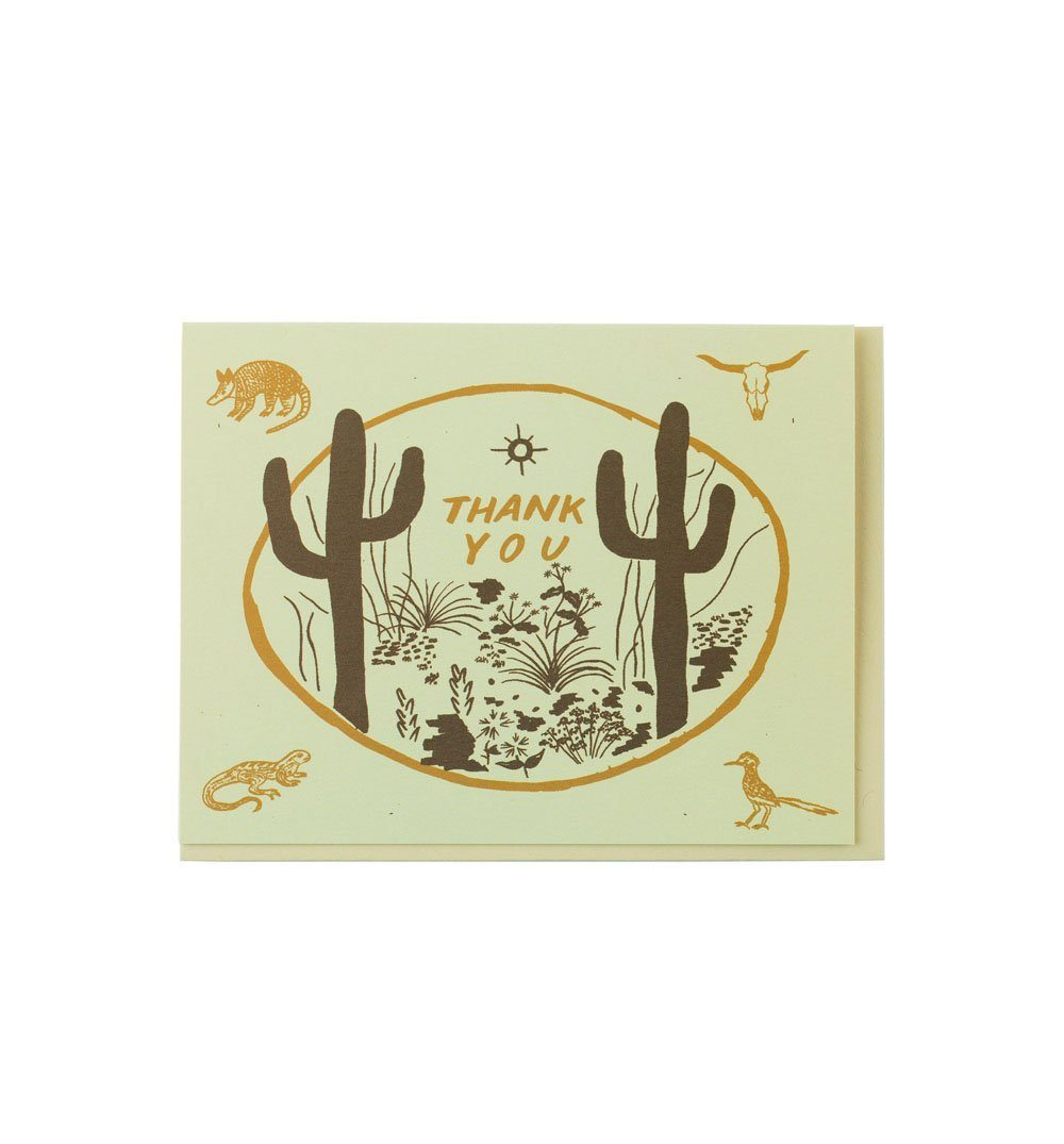 Small Adventure Sonoran Thank You Card - Art/Prints - Iron and Resin