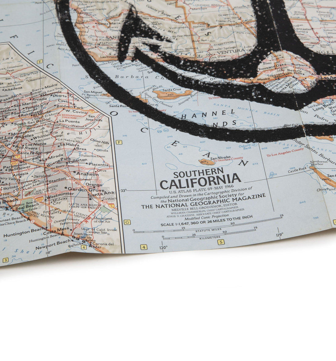 "Iron & Resin Vintage Map Poster - Southern California - 15"" x 20"" - Art/Prints - Iron and Resin"