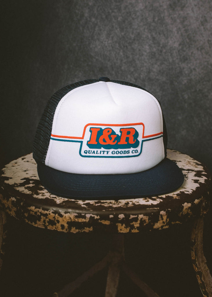 Iron & Resin Speedway Hat in Navy