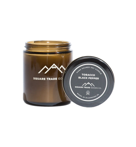 Square Trade Goods Candle - Tobacco Black Pepper - Home Essentials - Iron and Resin