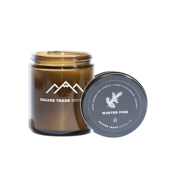 Square Trade Goods Candle - Winter Pine