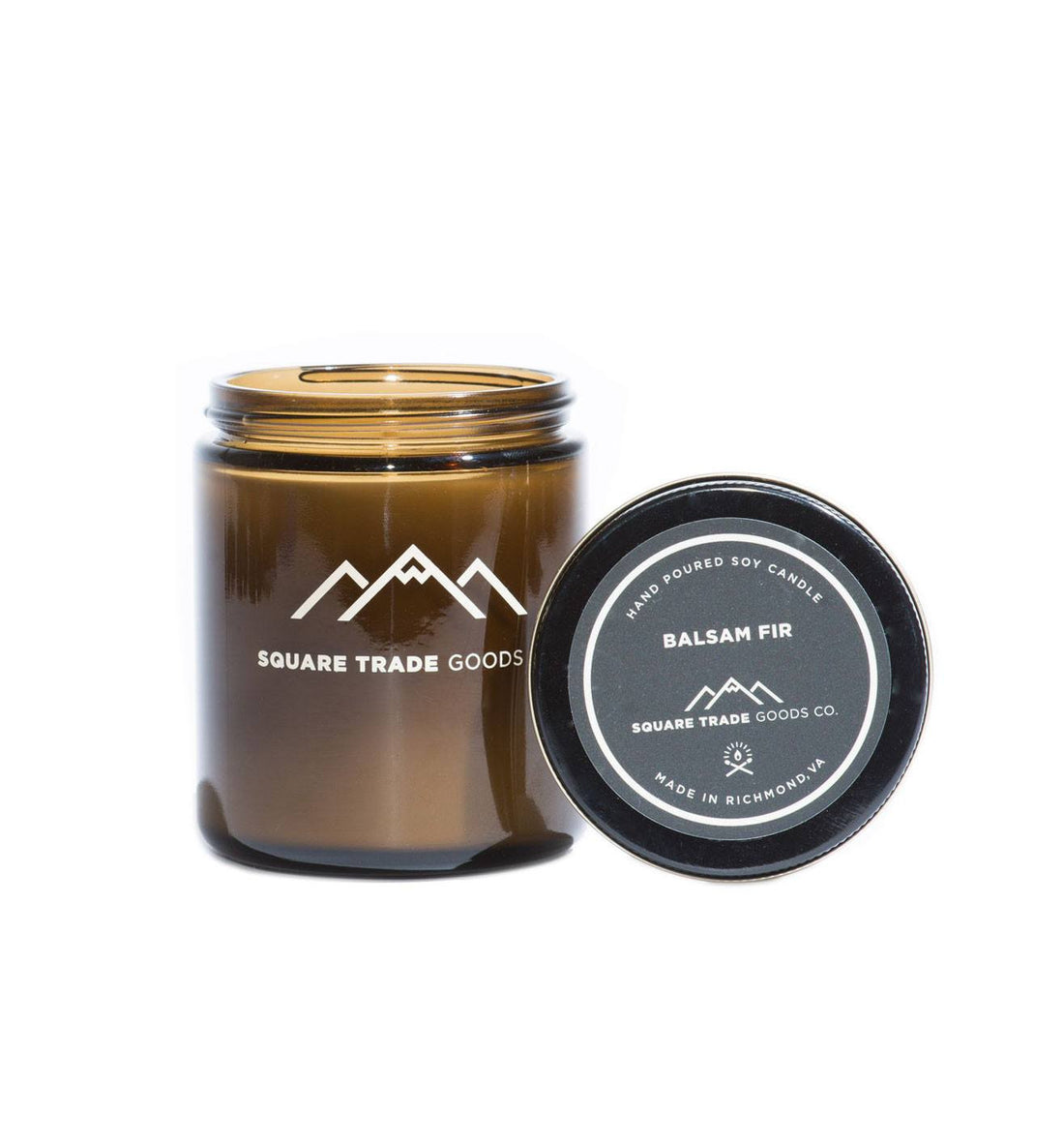 Square Trade Goods Candle - Balsam Fir - Home Essentials - Iron and Resin