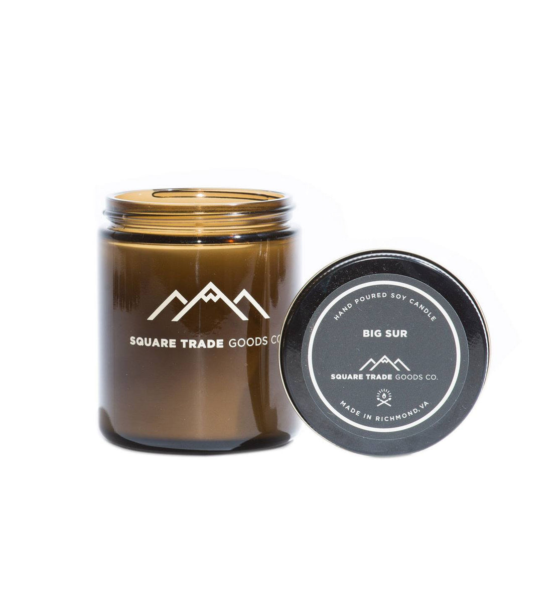 Square Trade Goods Candle - Big Sur - Home Essentials - Iron and Resin