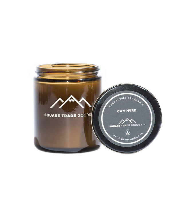 Square Trade Goods Candle - Campfire