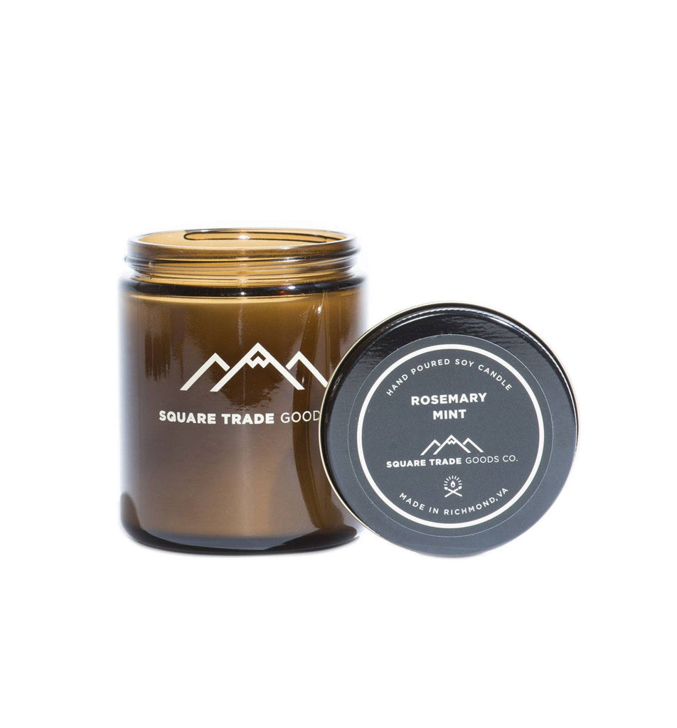 Square Trade Goods Candle - Rosemary Mint