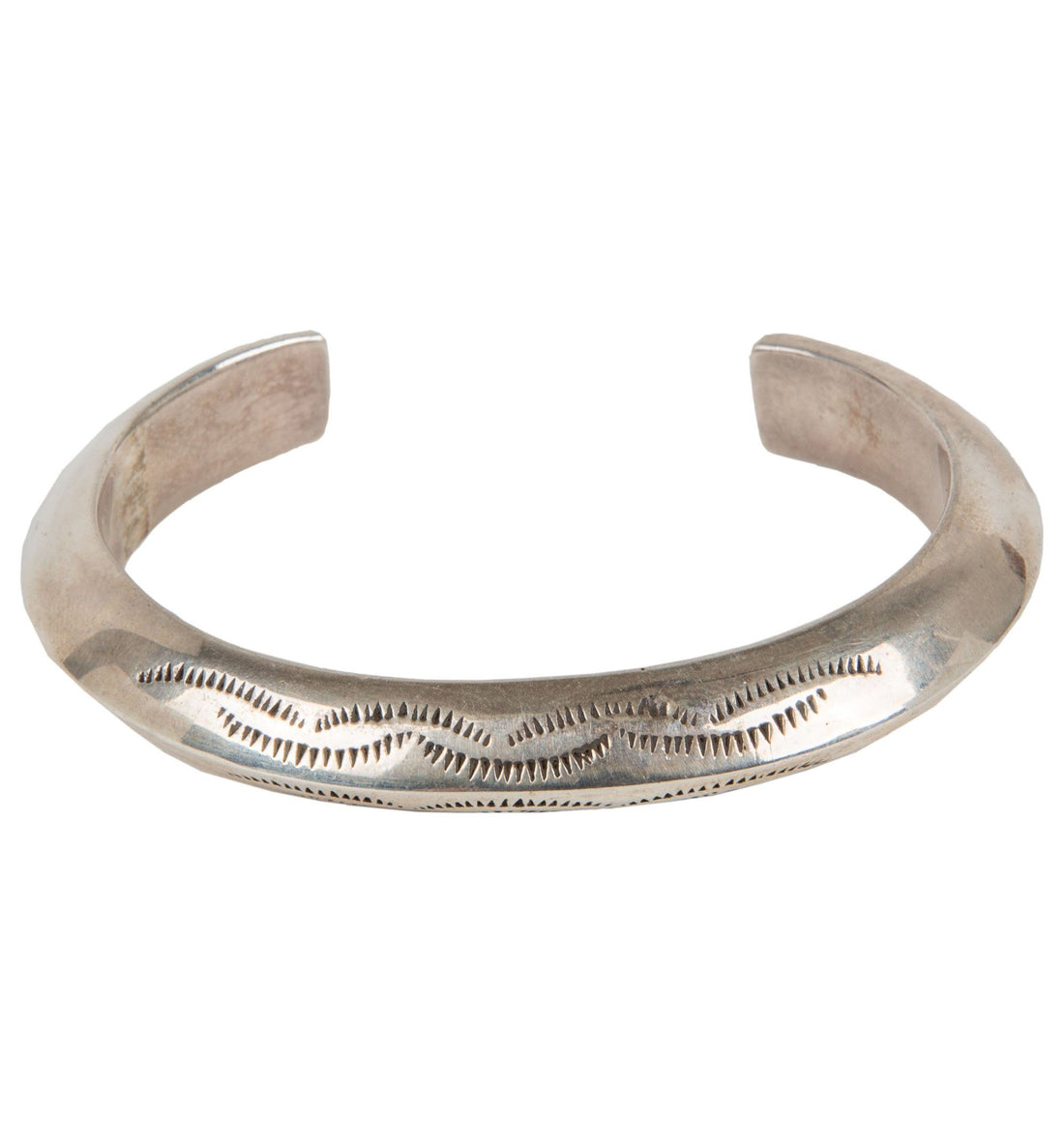 Stamped Angular Bracelet - Jewelry - Iron and Resin