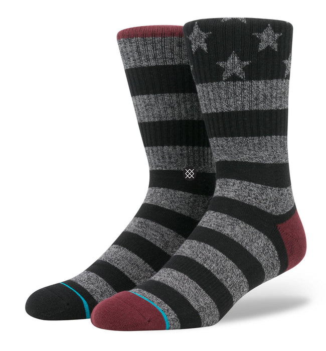 Stance Lone Ranger, Blk/Maroon, L/XL - Accessories: Socks - Iron and Resin