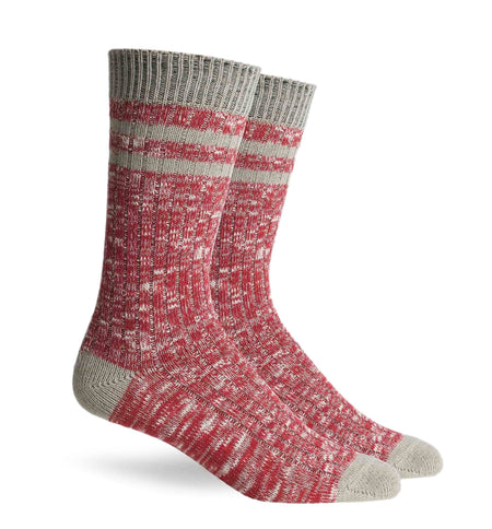 Richer Poorer Inc Stitcher Sock - Red Oatmeal - Socks/Underwear - Iron and Resin