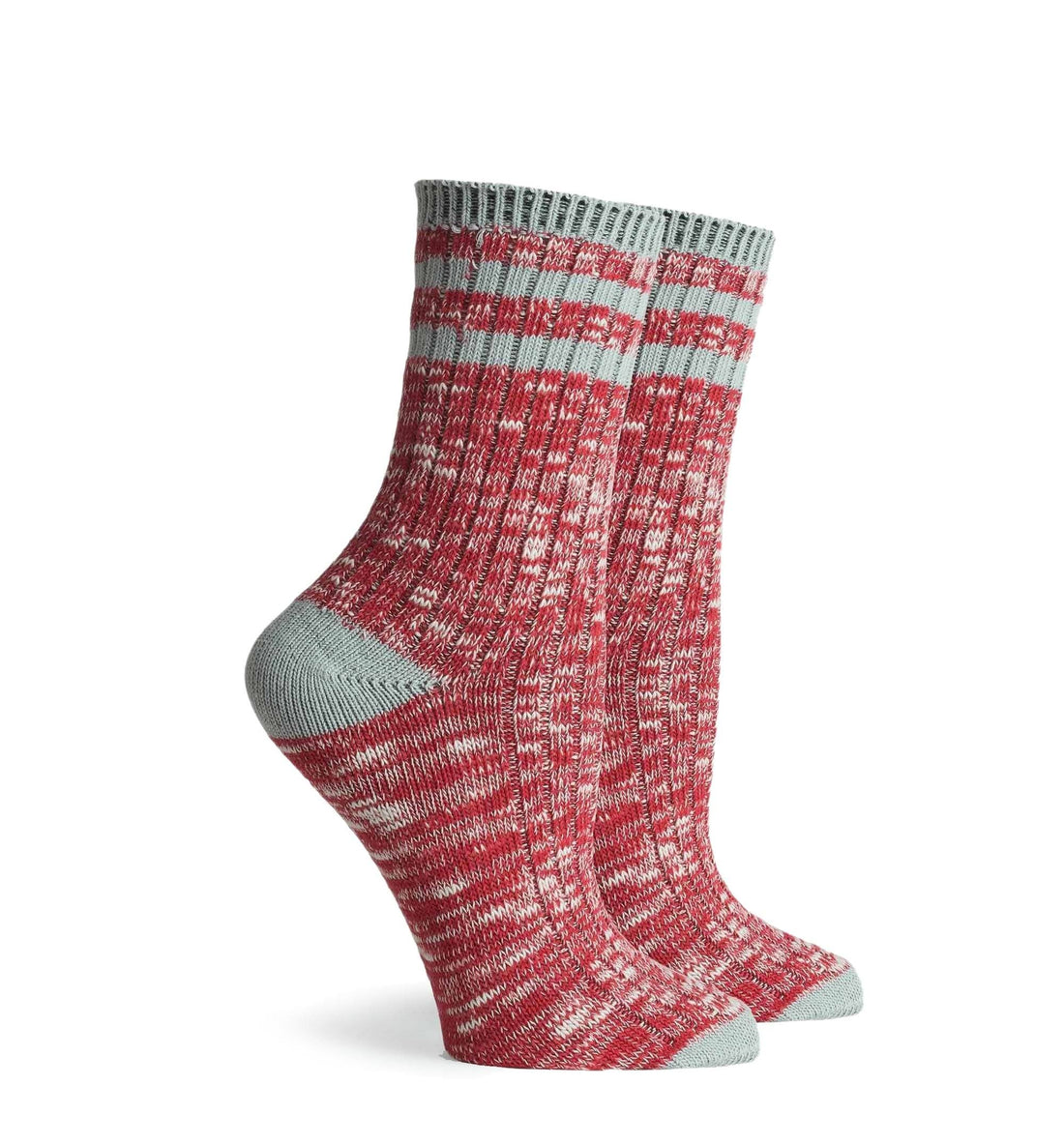 Richer Poorer Inc Women's Stitcher Sock - Red Grey - Socks/Underwear - Iron and Resin