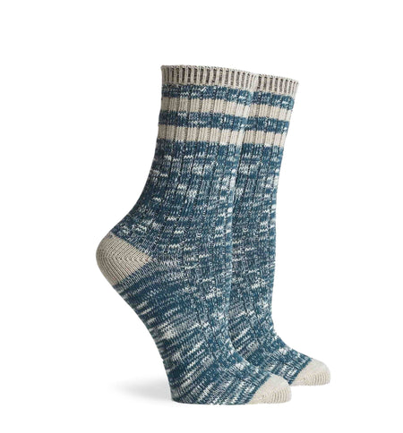 Richer Poorer Inc Women's Stitcher Sock - Teal Oatmeal - Socks/Underwear - Iron and Resin