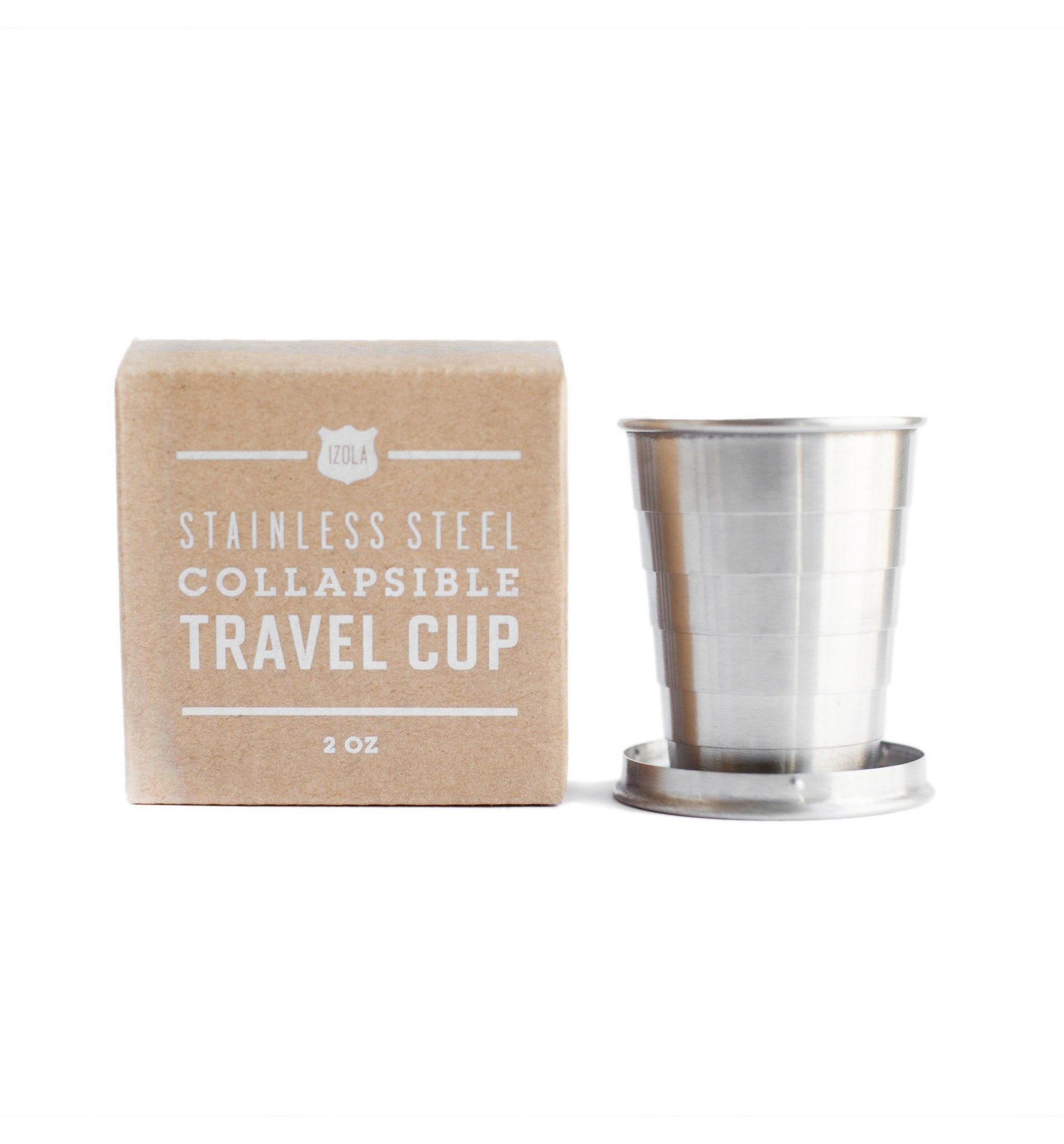 Izola Collapsible Travel Cup, Sunrise - Outdoor Living/Travel - Iron and Resin