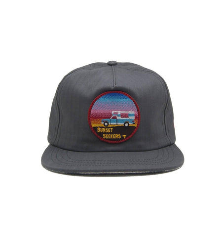 The Ampal Creative Sunset Seekers Strapback - Charcoal - Headwear - Iron and Resin