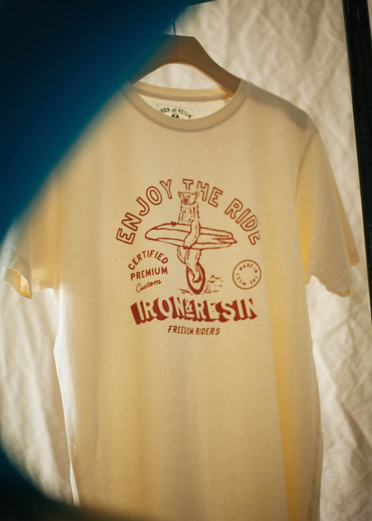 Iron & Resin Surf Bear Graphic Tee In Natural Men's T-Shirt