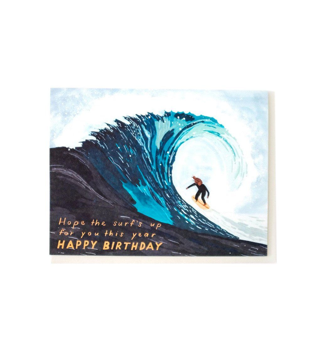 Small Adventure Surf's up Birthday Card - Art/Prints - Iron and Resin