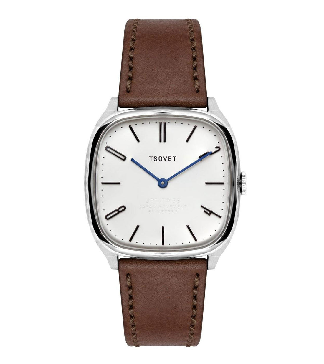 Tsovet Stainless/Brown/Natural - Accessories: Watches - Iron and Resin