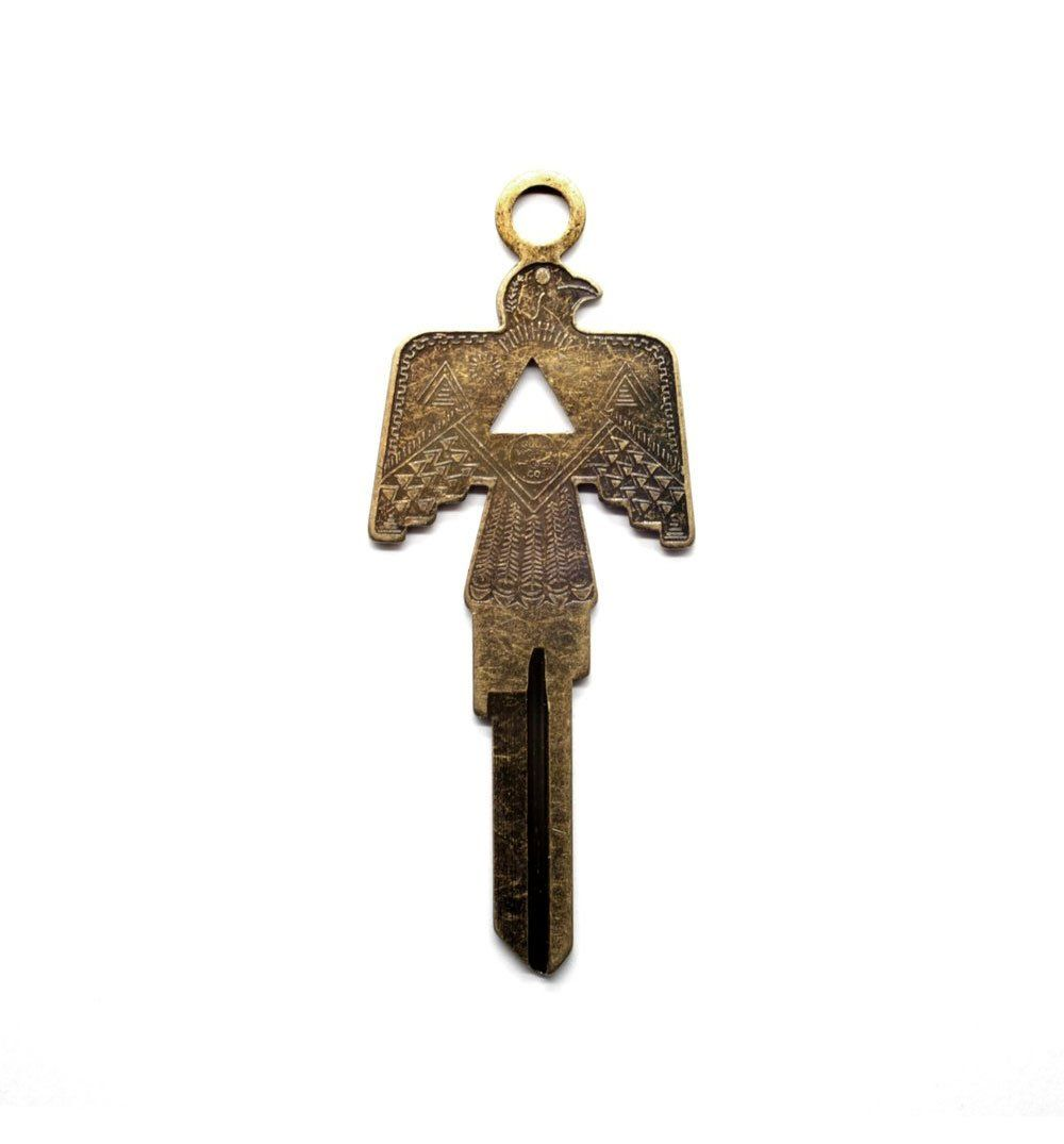 Good Worth & Co. Thunderbird Key - Antique Brass - Carry Essentials - Iron and Resin