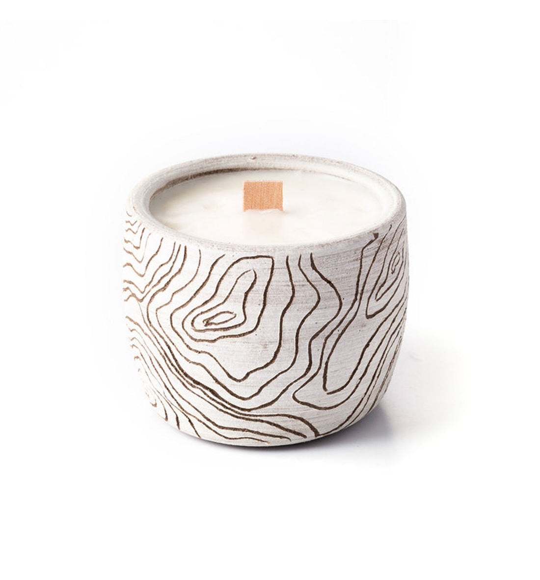 Uzumati Ceramics White Topography Candle - High Sierra Camp - Home Essentials - Iron and Resin