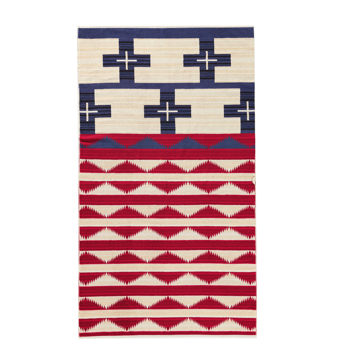 Pendleton Woolen Mills Oversized Jacquard Towel - Brave Star - Outdoor Living/Travel - Iron and Resin
