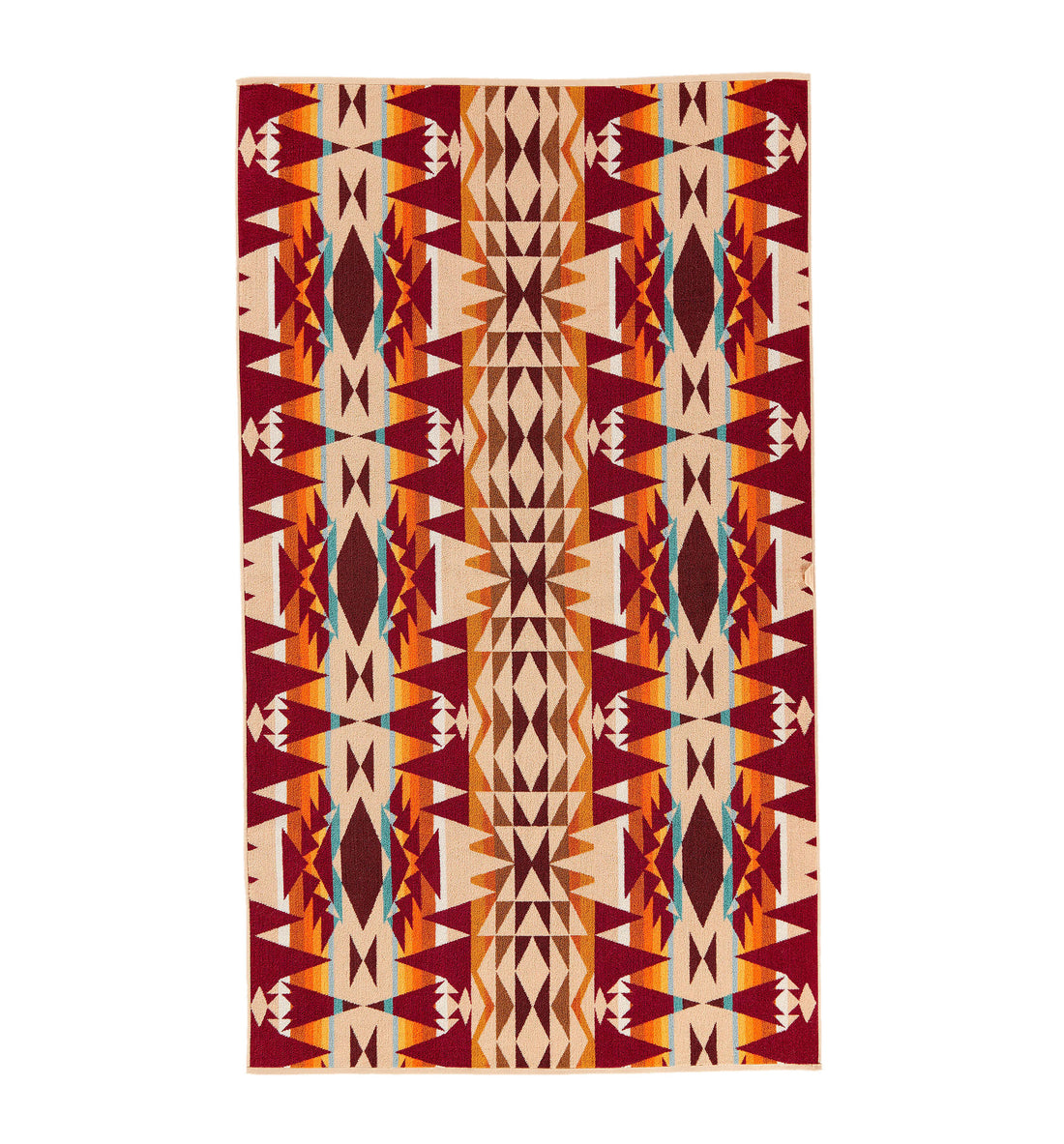Pendleton Woolen Mills Oversized Jacquard Towel - Cresent Butte - Outdoor Living/Travel - Iron and Resin